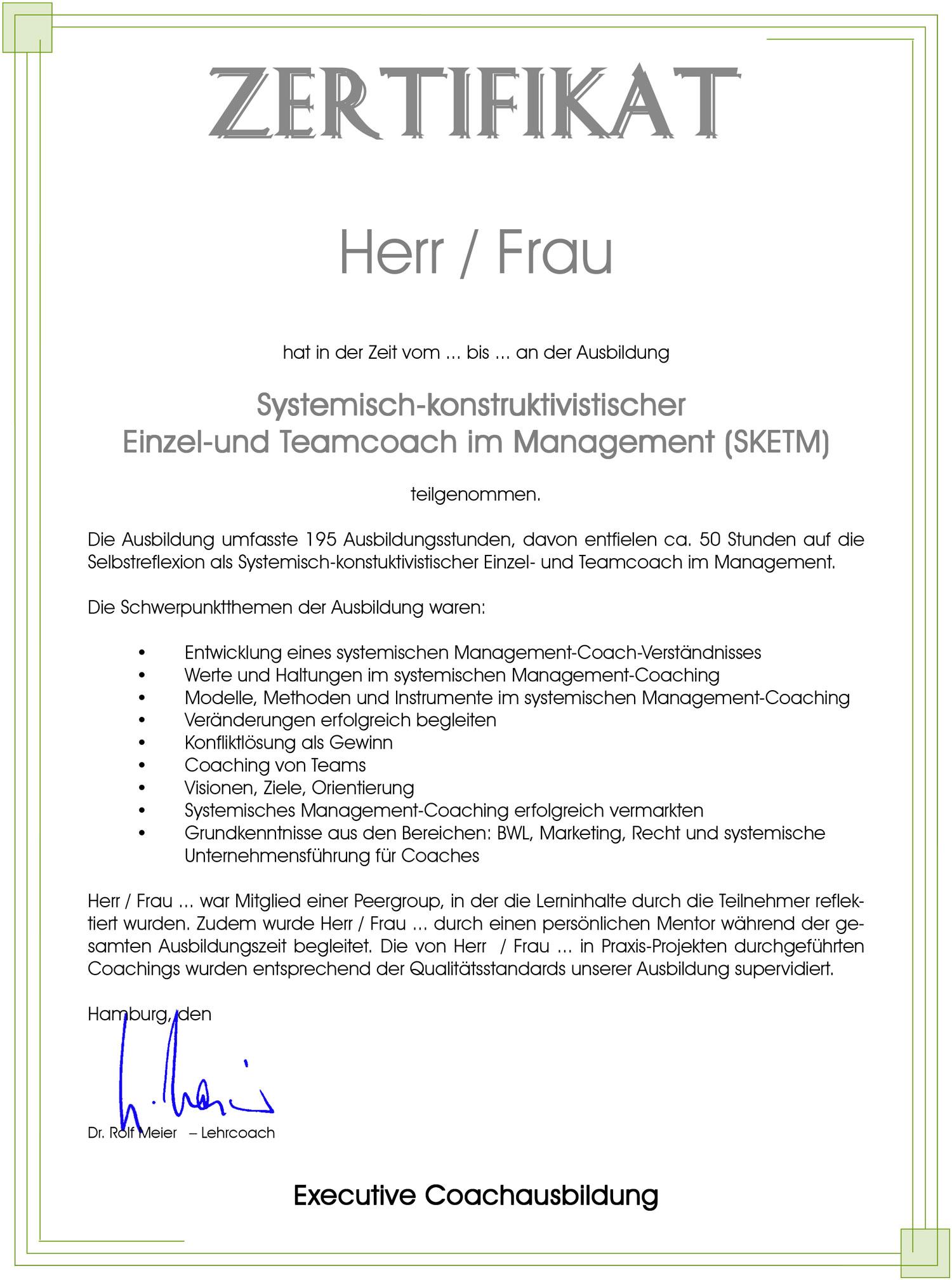 Systemische Coachausbildung nach der Hamburger Schule: Ihre Coach ...